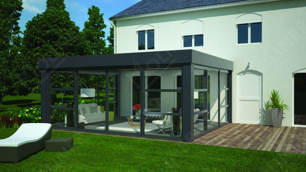 v randa contemporaine toit plat avignon carpentras orange vaucluse. Black Bedroom Furniture Sets. Home Design Ideas
