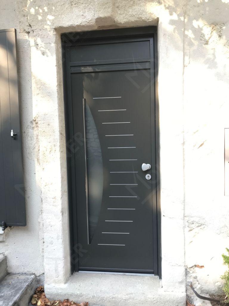 Portes d 39 entr e aluminium avignon carpentras orange vaucluse for Porte aluminium